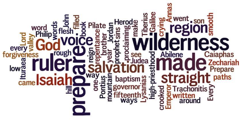 Wordle to Accompany Week #2 Advent Devotion